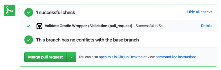 Gradle wrapper verification